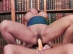 Horny lesbians have fun in library lesbian porn movies